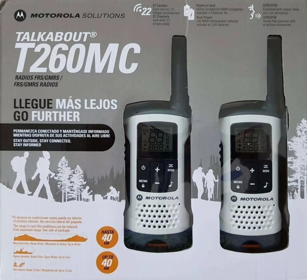 Rádio Motorola Walk Talk Talkabout T260 Comunicador 40 Km