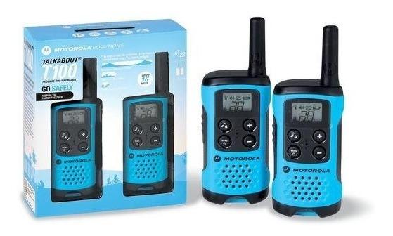 Walkie Talkie Motorola T100MC - 25KM - 22 Canais