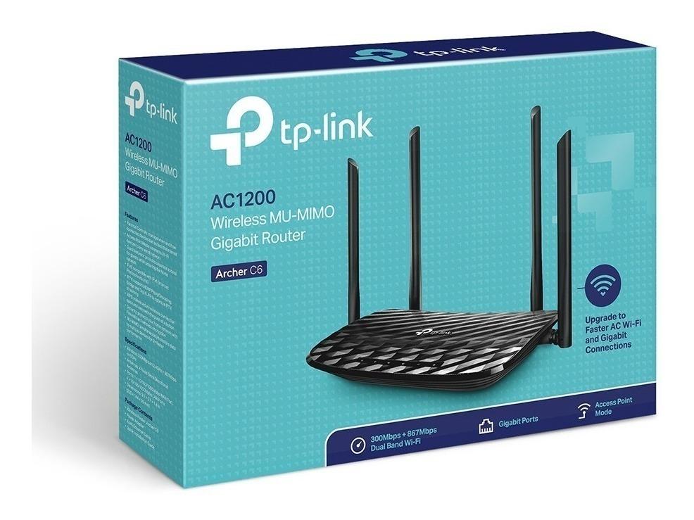 Roteador TP-Link Archer C6 AC1200, 10/100/1000Mbps, 4 Antenas