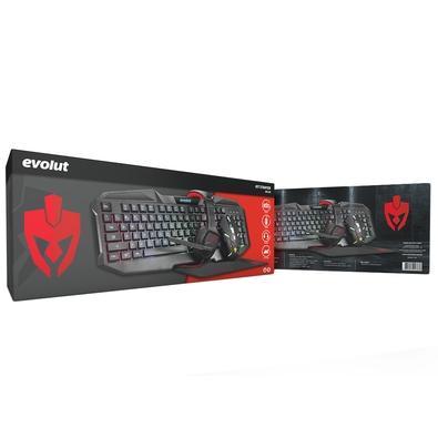 Kit Gamer Evolut Starter - Teclado + Mouse + Mousepad + Headset - EG-50
