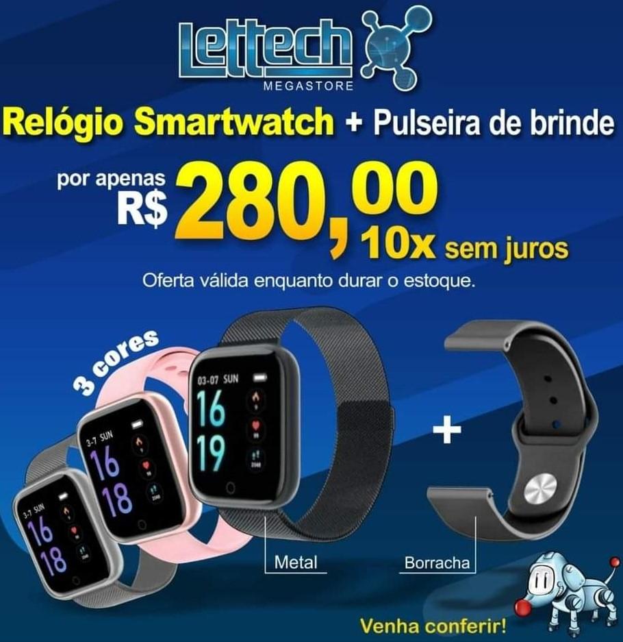 Relógio Smart Watch Esportivo T80 Bluetooth