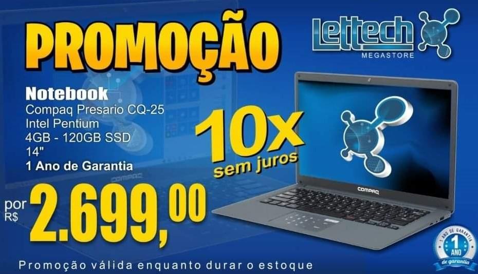 Notebook Compaq Presario CQ-25 Intel Pentium 4GB 120GB SSD
