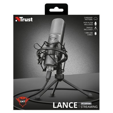 Microfone Gamer de Mesa Trust GXT 242 Lance - com Tripé