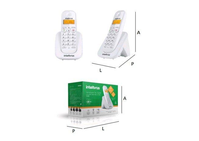 Ramal sem Fio Digital TS3111 Branco - Intelbrás