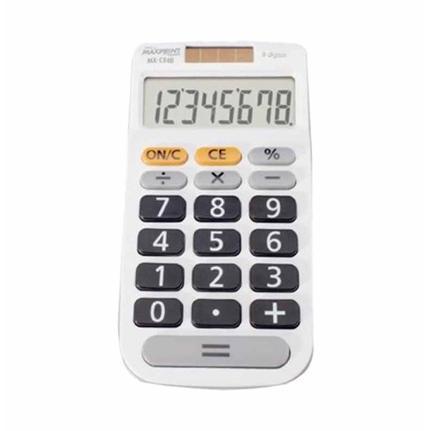 Calculadora De Mesa 8 Dígitos Mx-C84B Branca - Maxprint