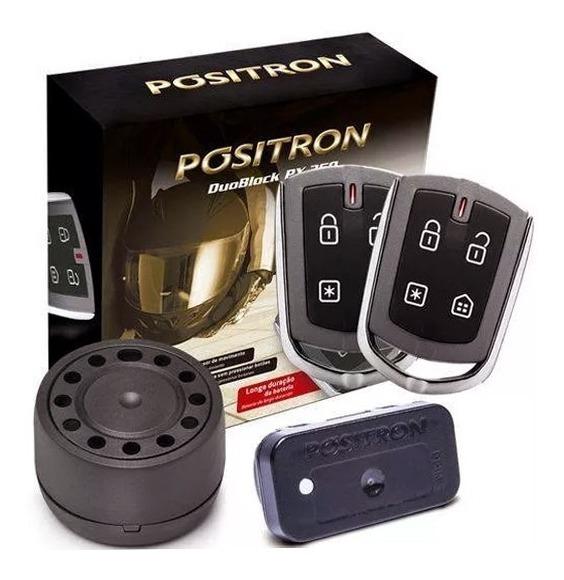 Alarme Moto Universal Positron Duoblock PX 350 G8 Função Presença Sensor Movimento Com 2 Controles
