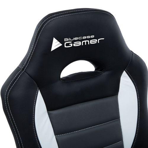 Cadeira Gamer Silver Branco Cinza Preto Bluecase