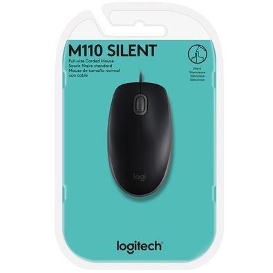 Mouse Logitech M110 com Clique Silencioso