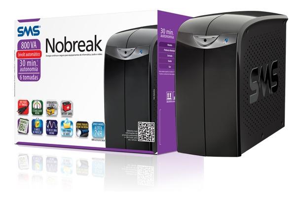 Nobreak SMS 800va Bivolt