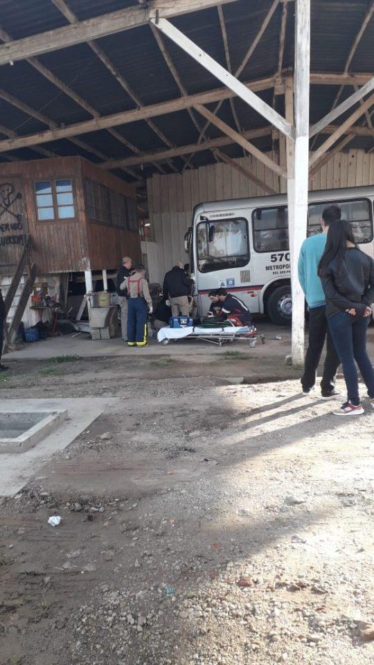 Motorista morreu atropelado por ônibus (Foto: Colaboração)