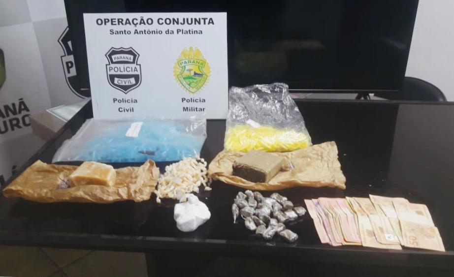 Drogas e objetos furtados encontrados pelos policiais nos endereços suspeitos - Divulgação – Polícia Civil