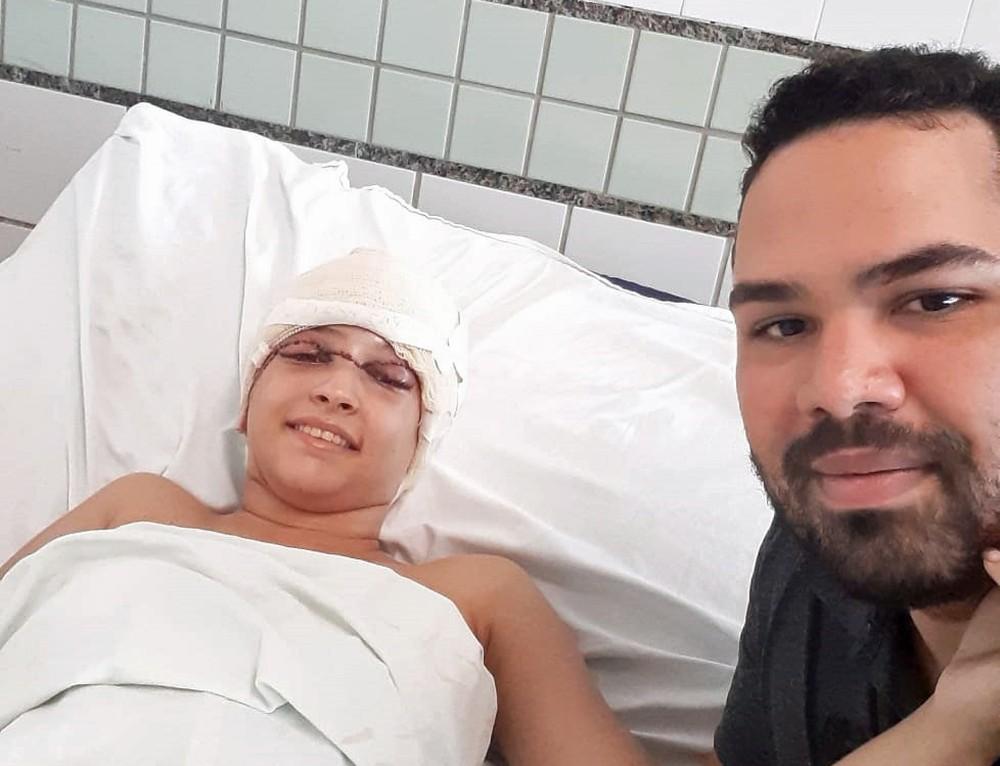 Eduardo estava com Débora no momento em que ocorreu o acidente de kart, no Recife — Foto: Eduardo Tumajan/Acervo pessoal
