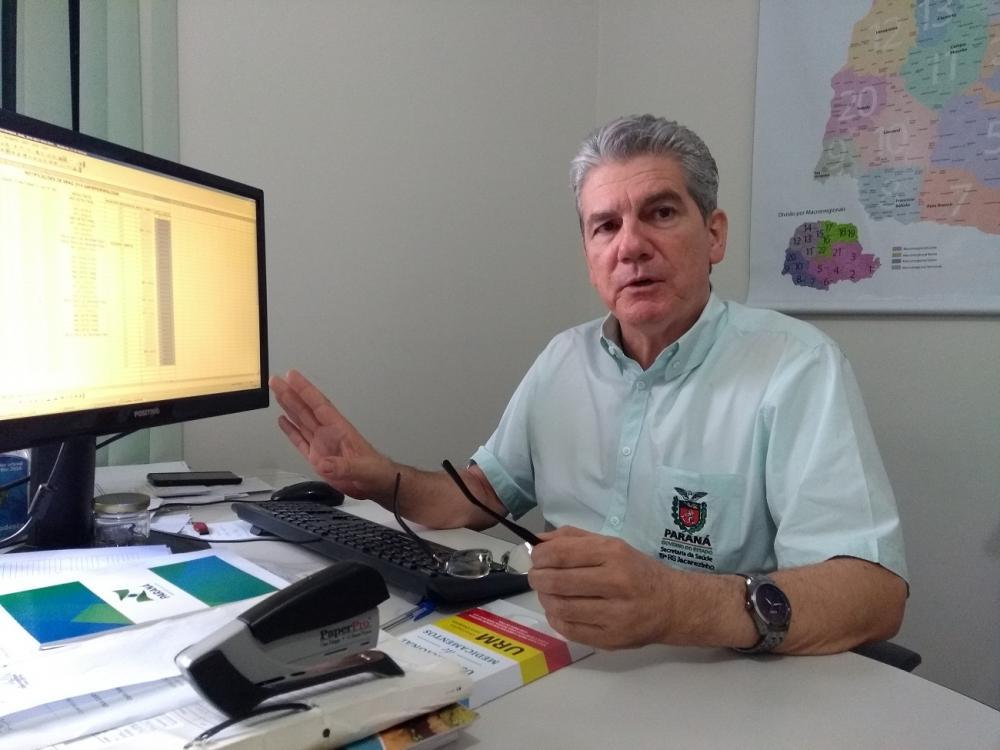 Promotor em saúde da 19ª Regional de Saúde, Ronaldo Trevisan - Foto: Lucas Aleixo