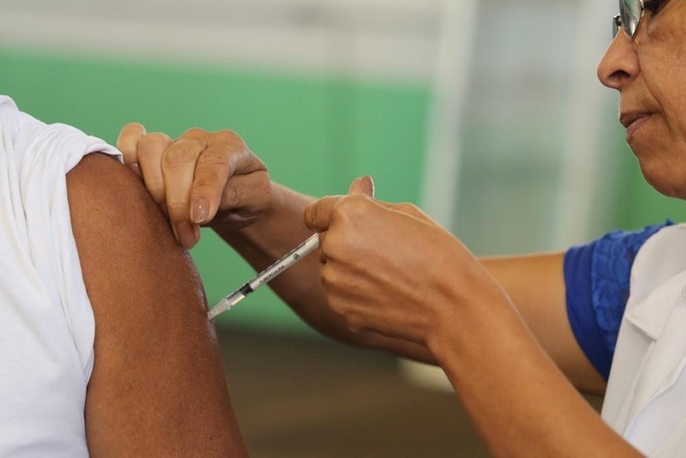 Vacinação contra sarampo em Uberaba (MG) — Foto: Prefeitura de Uberaba/Divulgação