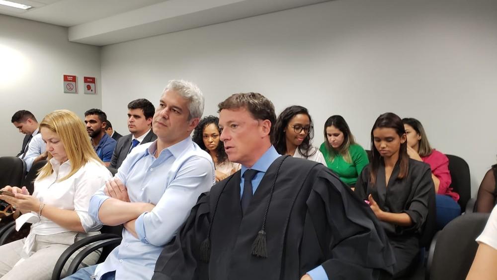Gustavo Correa, cunhado da apresentadora Ana Hickmann, acompanha julgamento de recurso contra ele em Belo Horizonte — Foto: Raquel Freitas/G1