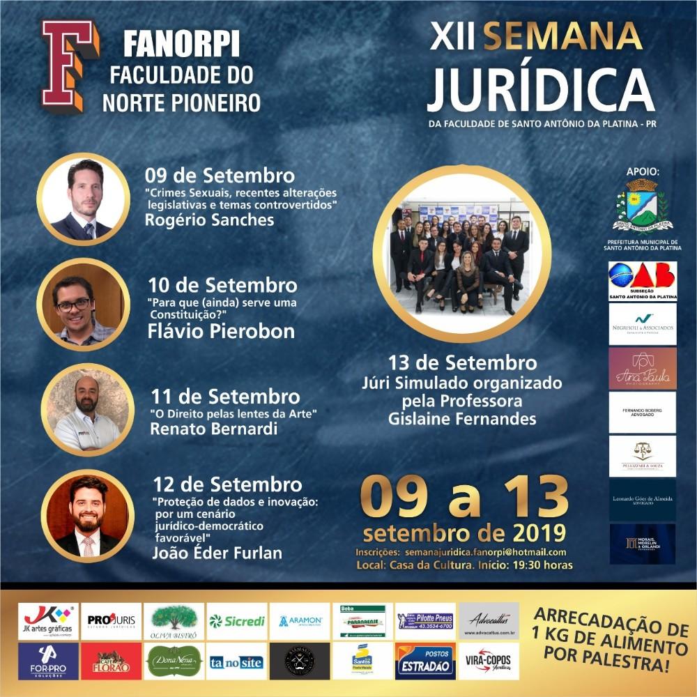 Professor Flávio Pierobon comanda a segunda noite da XII Semana Jurídica da Fanorpi