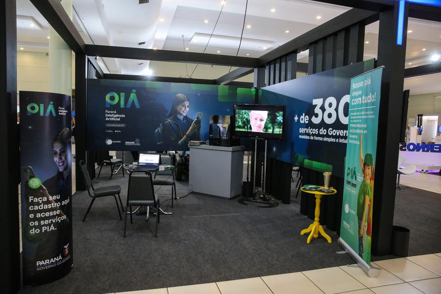 No estande da empresa foi apresentado o PIÁ, o programa Celepar Experience e os projetos em prol dos ODS - Foto: AEN