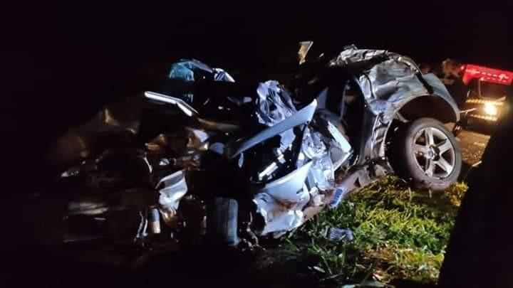 Colisão frontal deixa três mortos e três feridos na BR-369