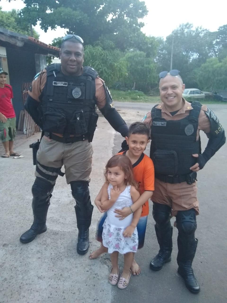 Policiais da Rocam realizam sonho de garoto em Santo Antônio