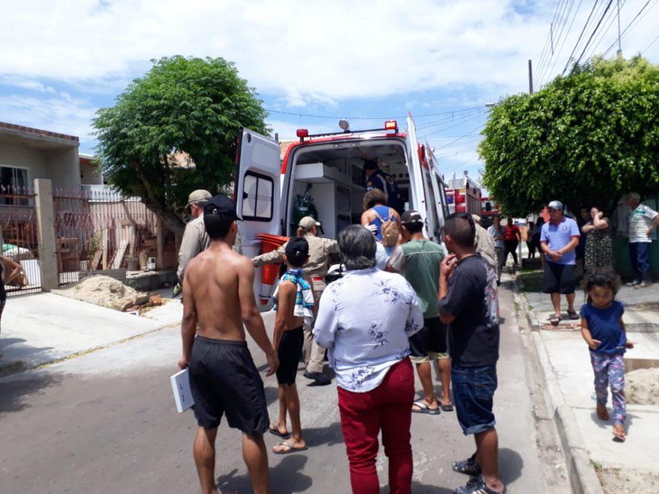 Garoto ficou ferido e foi levado a hospital (Foto: Djalma Malaquias – Banda B)