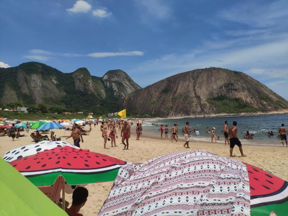 Manhã de sábado (11) foi marcada por altas temperaturas no Rio e na Região Metropolitana — Foto: João Navega/ Arquivo Pessoal