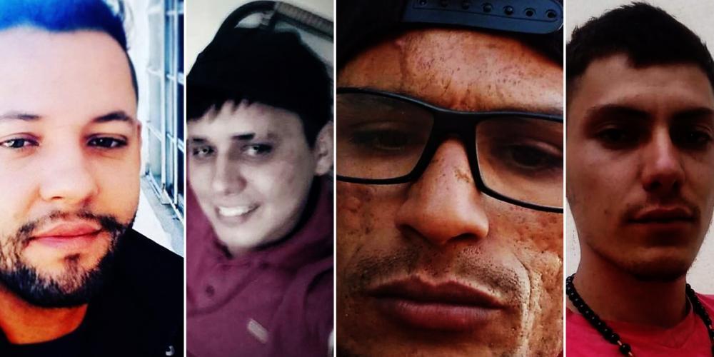 Cacá, Diego, Jefferson e Junior Cubas foram assassinados a tiros