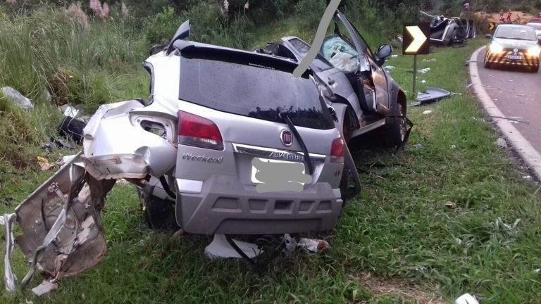 Acidente deixa três mortos na BR-277, em Guarapuava