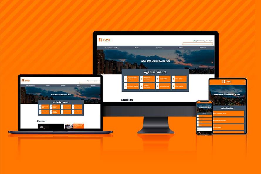 Novo site da Copel pode ser acessado em qualquer dispositivo