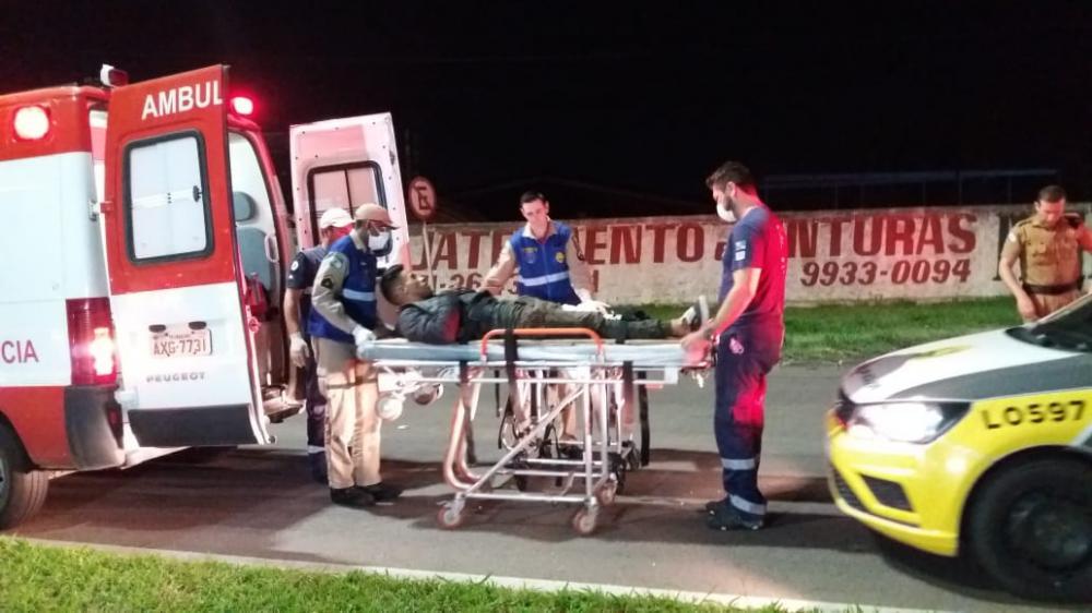 Luiz Fernando perdeu o controle de sua motocicleta e colidiu contra um poste. Foto: Banda B