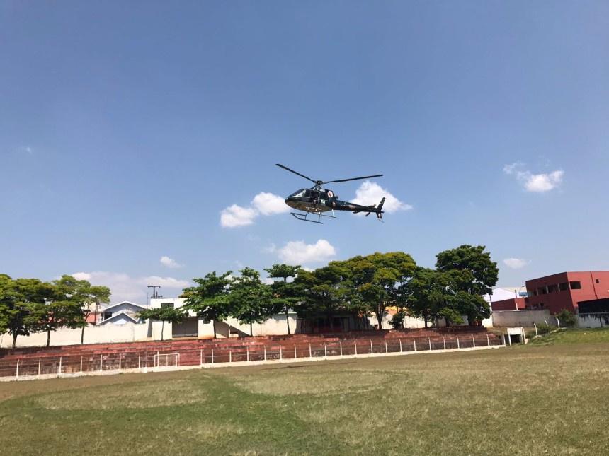 Homem infarta e é transferido de helicóptero de Ibaiti para Arapongas