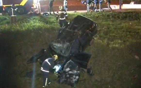 Acidente no Contorno Sul: casal morre após carro capotar em Curitiba