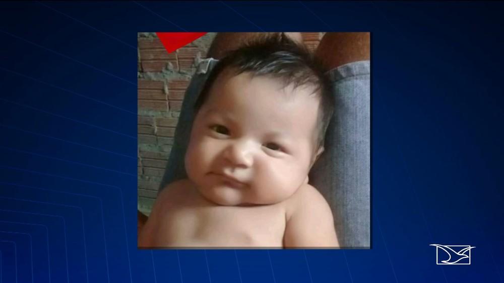 Jonathan Alves dos Santos, de dois meses, desapareceu enquanto dormia com os pais em uma casa no município de Belágua (MA) — Foto: Reprodução/TV Mirante