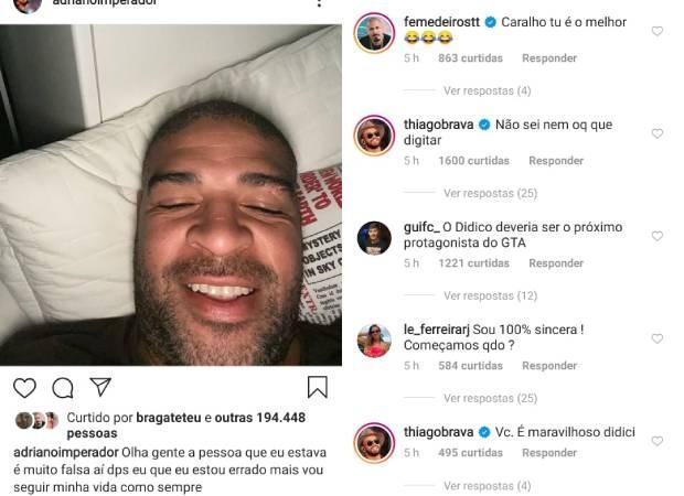 """Adriano Imperador termina noivado após uma semana e detona ex-noiva: """"É muito falsa"""""""